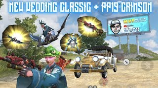 NEW WEDDING CLASSIC CAR + PP19 CRIMSON SKIN in Rules Of Survival!