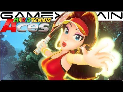 Mario Tennis Aces - Pauline Gameplay + Special Shot (March Tournament Unlockable Reward!)