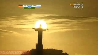 IN HOC SIGNO VINCES - Jesus Statue Picture - Germany vs Argentina World Cup Final 2014