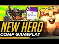 Overwatch | WRECKING BALL GAMEPLAY - 10 MINUTE FULL COMPETITIVE (New Hero)