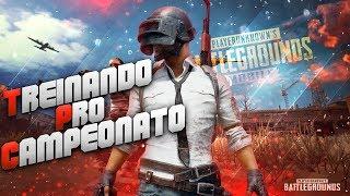 TREINO PRO CAMPEONATO! PUBG MOBILE NO IPAD (USE #CASTOR)