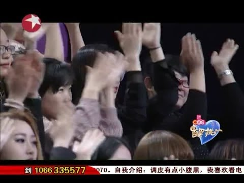Most Popular Dating Show in Shanghai China:儒雅曹阳貌似费玉清唱《千里之外》looks like Yu-Ching Fei 04112014