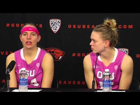 Oregon State WBB vs Colorado Postgame Press Conference (DAM Cancer) 2/12/2016