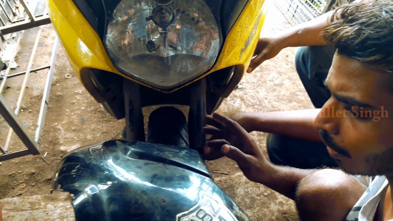 How to dio modified dio front mudguard bullet singh boisar