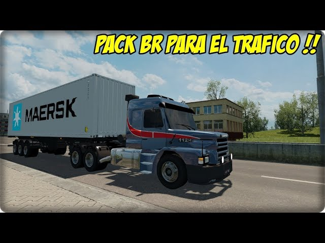 PACK DE CAMIONES Y CARGAS BR PARA EL TRAFICO - PACK SUPER RECOMENDABLE - ETS2 MODS