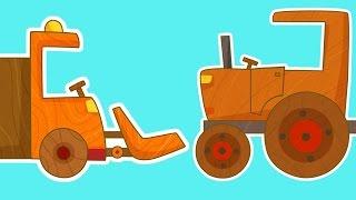 Çizgi film - Çocuklar için arabalar - Traktör.
