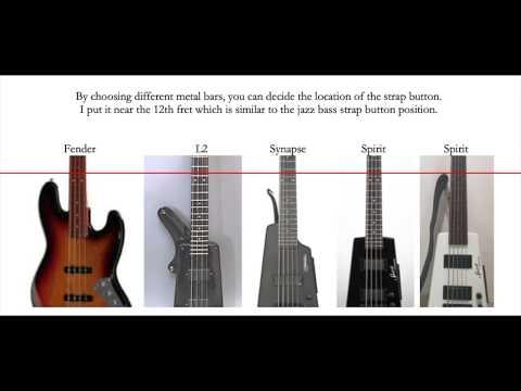 Steinberger Spirit Bass - Solving The Strap Hook / Strap Button Playing Position Problem (zero Mod)