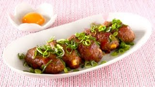 Spam Pork Tsukune (japanese Teriyaki Meatballs) Recipe スパム 豚つくね レシピ