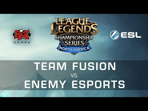Enemy eSports vs. Team Fusion - NA LCS Expansion Tournament