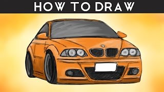 HOW TO DRAW a BMW M3 E46 - Step by Step | drawingpat