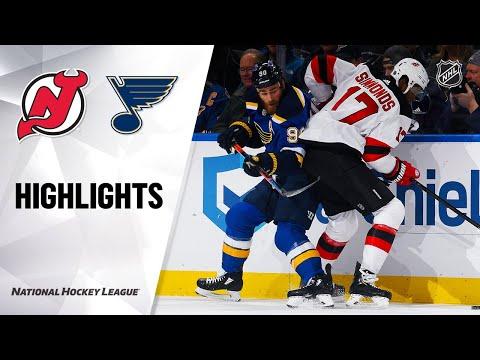 NHL Highlights   Devils @ Blues 2/18/20