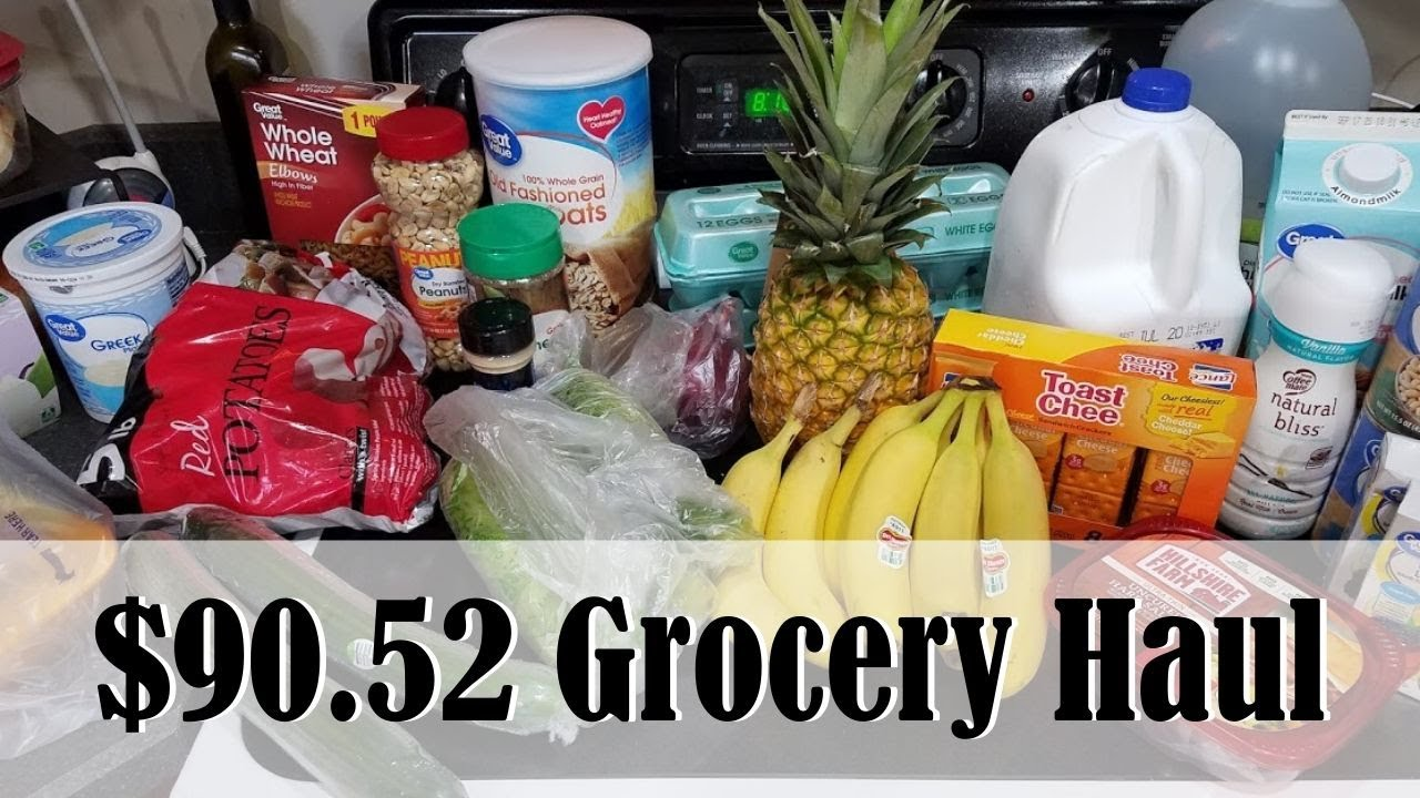 $90.52 WAL MART GROCERY HAUL