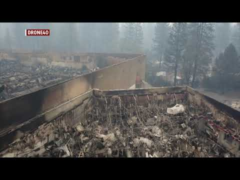 Paradise Gone: Drone video shows devastation from deadly Camp Fire in Butte County