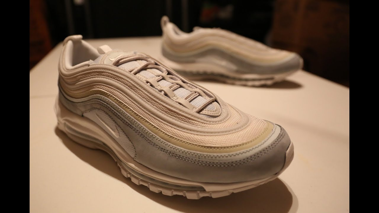 Nike Air Max 97 Premium Light Pumice/Summit White Unboxing