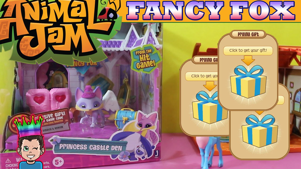 Animal Jam Limited Edition Fancy Fox Princess Castle Playset Game Codes Entered