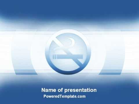 Stopping Smoking Powerpoint Template By Poweredtemplate