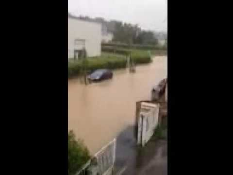 Inondation à Ecquevilly ZAC du Petit Parc ce 12 juin 2018