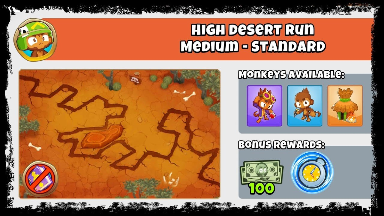 Bloons TD 6 - Advanced Challenge - High Desert Run - 23rd August