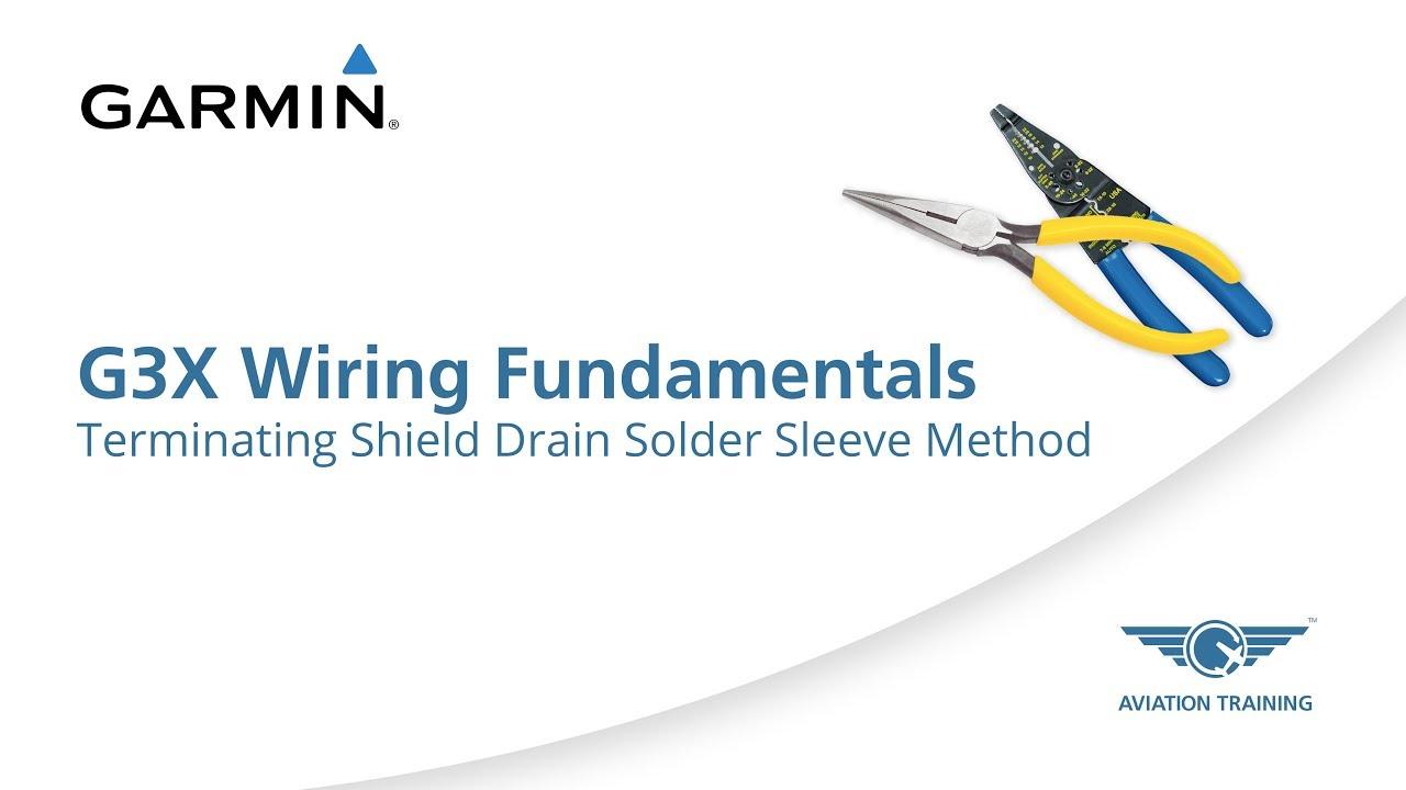 Garmin G3X Wiring Fundamentals Series – Terminating Shield Drain Solder Sleeve Method - Dauer: 2 Minuten, 14 Sekunden