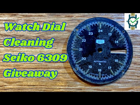 Watch Dial Cleaning  - Seiko 6309 Giveaway Series
