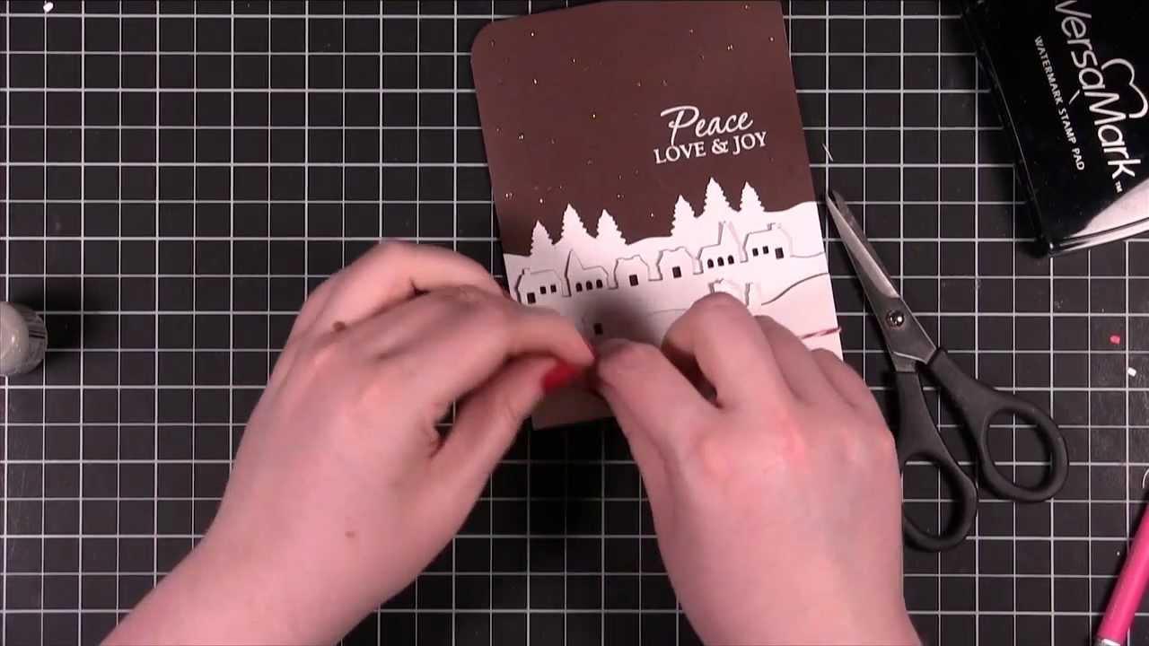 Martha Stewart Crafts Pop Up Village Punch Card