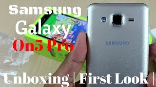 Hindi Samsung Galaxy On5 Pro Unboxing amp First Look Sharmaji Technical