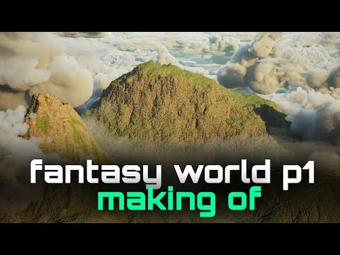 The creation of a fantasy world in WorldCreator 2, Corona, 3d-Coat, Megascans and 3dsmax. Part 1