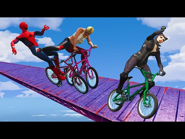 EXTREME RACES! (Funny Superhero Contest Videos w/ Harley Quinn Joker Spiderman BMX CARS Motorcycles)