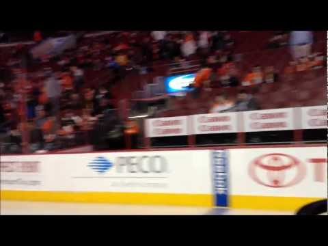 Riding the Zamboni at the Flyers Game