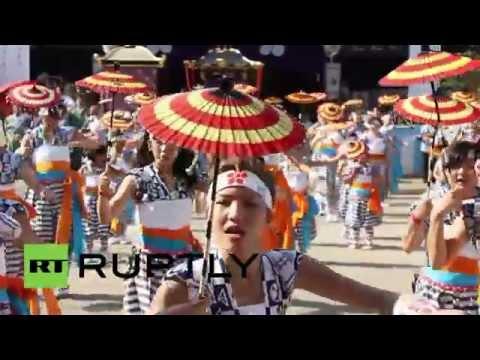 Japan: Stunning Osaka summer fest draws thousands
