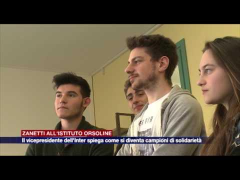 Javier Zanetti in visita alle Orsoline