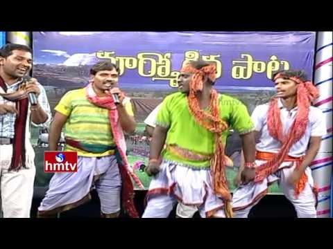 Folk Singer Shiva Nagulu Performance | Telangana Folk Songs | Marmogina Pata | HMTV