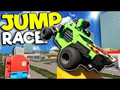 EXTREME LEGO JUMP RACE! - Brick Rigs Multiplayer Gameplay - Lego Stunt Challenge