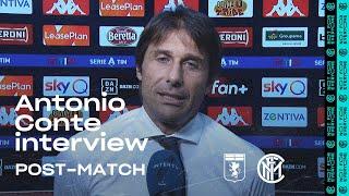 GENOA 0-3 INTER | ANTONIO CONTE EXCLUSIVE INTERVIEW: