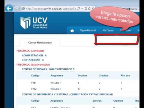 Tutorial Para Visualizar Las Notas En El Campus Virtual De La UCV