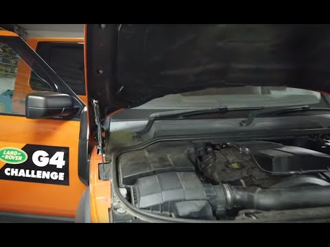 How to replace Bonnet / Hood gas lift struts on Land Rover Discovery 3 & 4 (LR3/LR4)