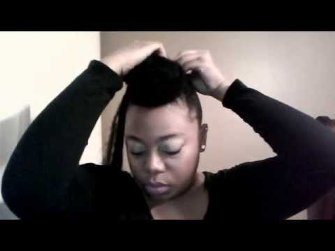 how to style a faux hawk with short hair faux bun hawk protective style 3743 | hqdefault