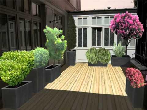 Exemple d 39 am nagement patio youtube for Amenagement patio