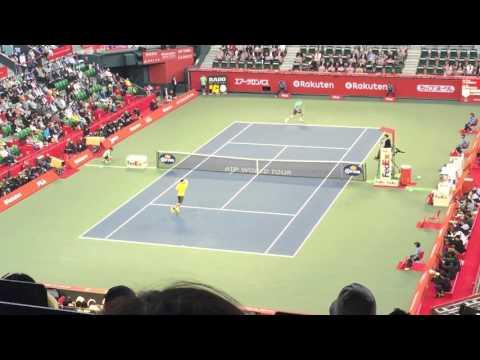 エアKで決める圧倒的強さの錦織圭(2015年ジャパンオープン対クエリー戦)