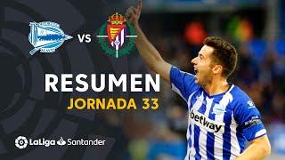 Resumen de Deportivo Alavés vs Real Valladolid (2-2)
