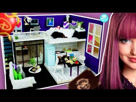 DIY Descendants DOLLHOUSE Miniature | MAL Lol Surprise Bedroom