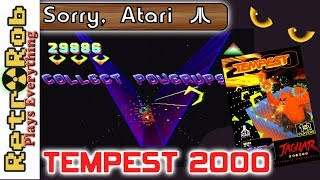 Atari Jaguar Tempest 2000 Thoughts and Gameplay on an Excellent Game!