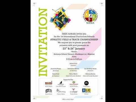 """1ST INTERNATIONAL CURRICULUM  SCHOOLS ATHLETIC FIELD & TRACK CHAMPIONSHIP"""