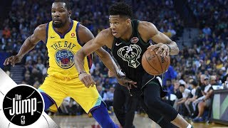 Should Durant, Giannis be tied for 4th on ESPN's NBArank top 10 list? | The Jump | ESPN