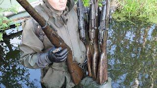 Достали кучу Оружия из глубин болота Нашли солдата