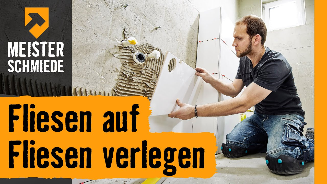 fliesen auf fliesen verlegen hornbach meisterschmiede youtube. Black Bedroom Furniture Sets. Home Design Ideas
