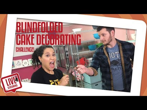 Blindfolded Cake decorating challenge!