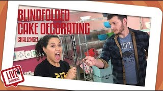 Blindfolded Cake Decorating Challenge!  | How To Cake It | Yolanda Gampp