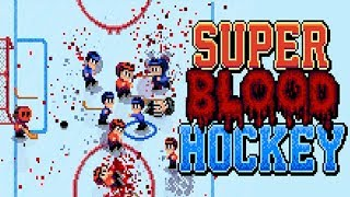 Super Blood Hockey Gameplay (PC HD) [1080p60FPS]