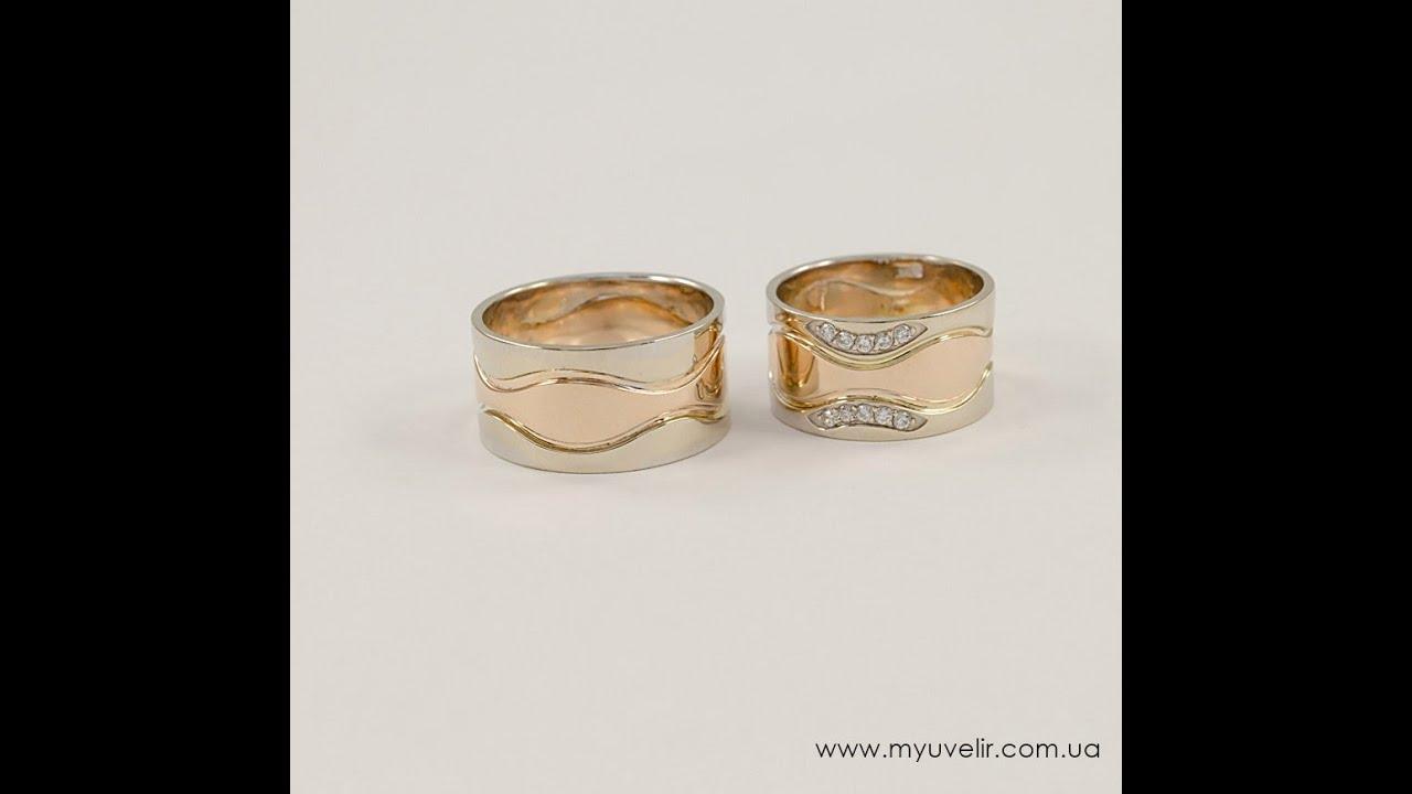 Обручальное кольцо из белого золота с бриллиантами 0,4 карат - YouTube